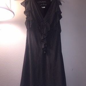 J.B.S black polka dotted dress
